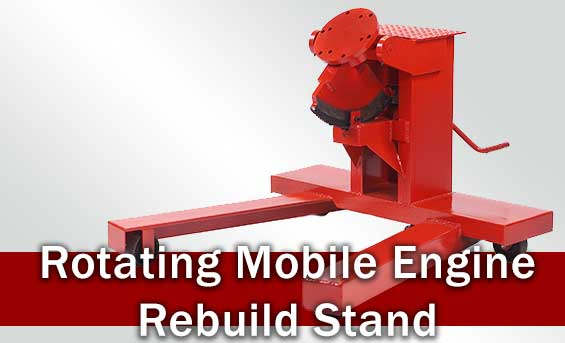 Rotating Mobile Engine Rebuild Stand