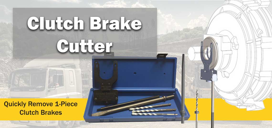 Clutch Brake Cutter Quickly Removes 1-Piece Clutch Brakes